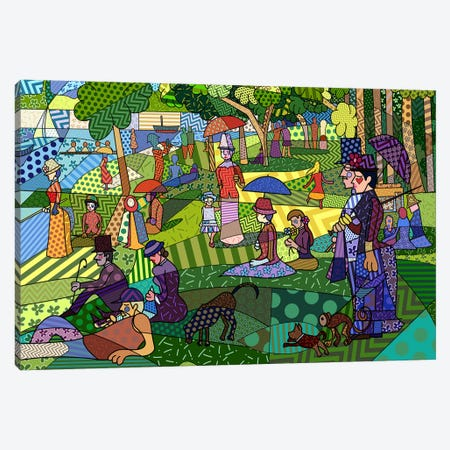 Sunday Afternoon on the Island of La Grande Jatte 2 (After Georges-Pierre Seurat) Canvas Print #ICA442} by 5by5collective Canvas Wall Art