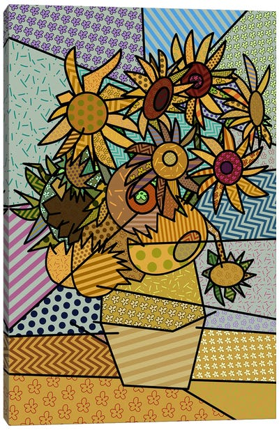 Sunflowers 2 (After Vincent Van Gogh) Canvas Print #ICA443