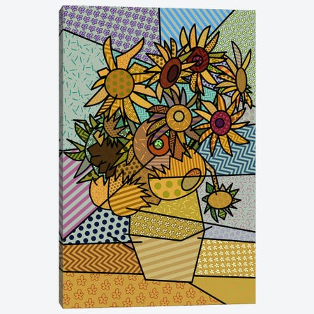 Sunflowers 2 (After Vincent Van Gogh) Canvas Print #ICA443} by 5by5collective Canvas Art