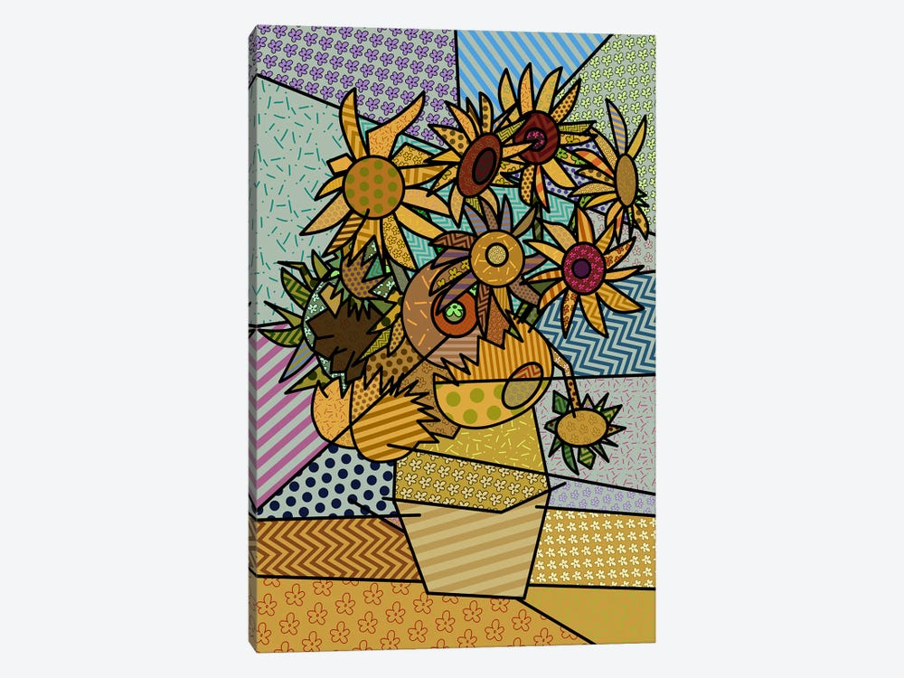 Sunflowers 2 (After Vincent Van Gogh) by 5by5collective 1-piece Canvas Art