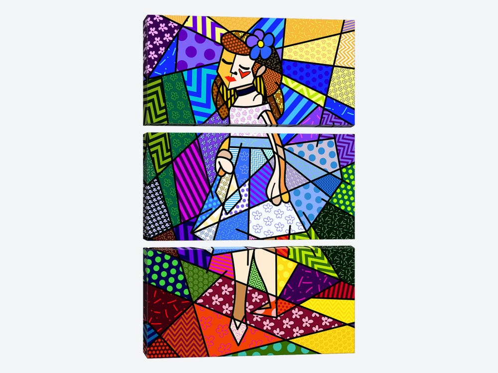 The Dancer 3 (After Pierre Auguste Renoir) by 5by5collective 3-piece Canvas Print