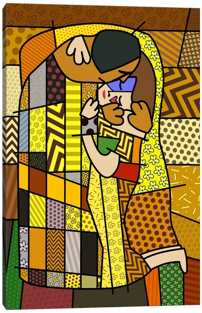 The Kiss 2 (After Gustav Klimt) Canvas Print #ICA445