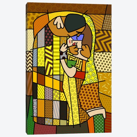 The Kiss 2 (After Gustav Klimt) Canvas Print #ICA445} by 5by5collective Canvas Print