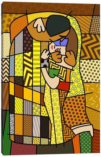 The Kiss 2 (After Gustav Klimt) Canvas Art Print