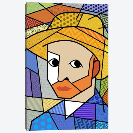 Self Portrait 3 (After Vincent Van Gogh) Canvas Print #ICA446} by 5by5collective Canvas Art Print