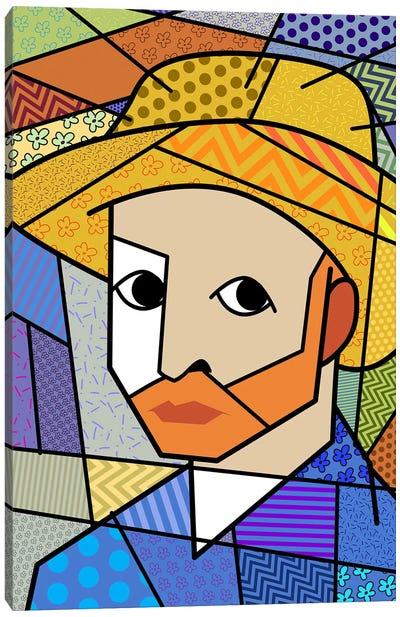 Self Portrait 3 (After Vincent Van Gogh) Canvas Art Print