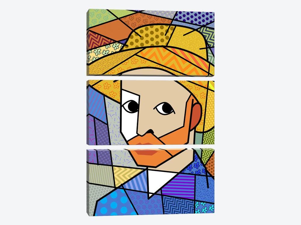 Self Portrait 3 (After Vincent Van Gogh) by 5by5collective 3-piece Art Print