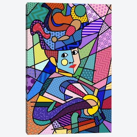 Woman With a Hat 3 (After Henri Matisse) Canvas Print #ICA448} by 5by5collective Canvas Art