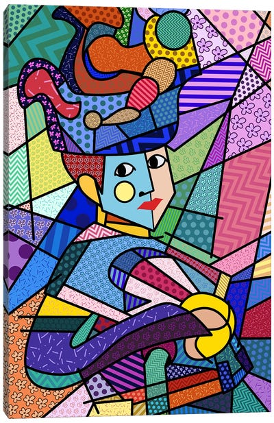 Woman With a Hat 3 (After Henri Matisse) Canvas Art Print