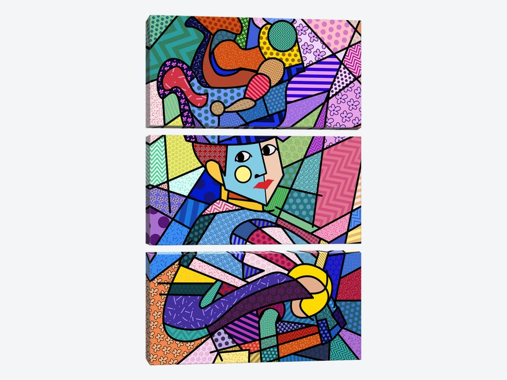 Woman With a Hat 3 (After Henri Matisse) by 5by5collective 3-piece Canvas Print