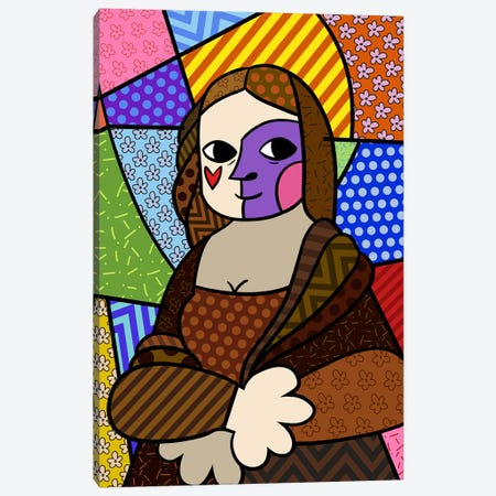 Mona Lisa 2 (After Leonardo Da Vinci) Canvas Print #ICA449} by 5by5collective Canvas Wall Art