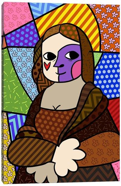Mona Lisa 2 (After Leonardo Da Vinci) Canvas Print #ICA449