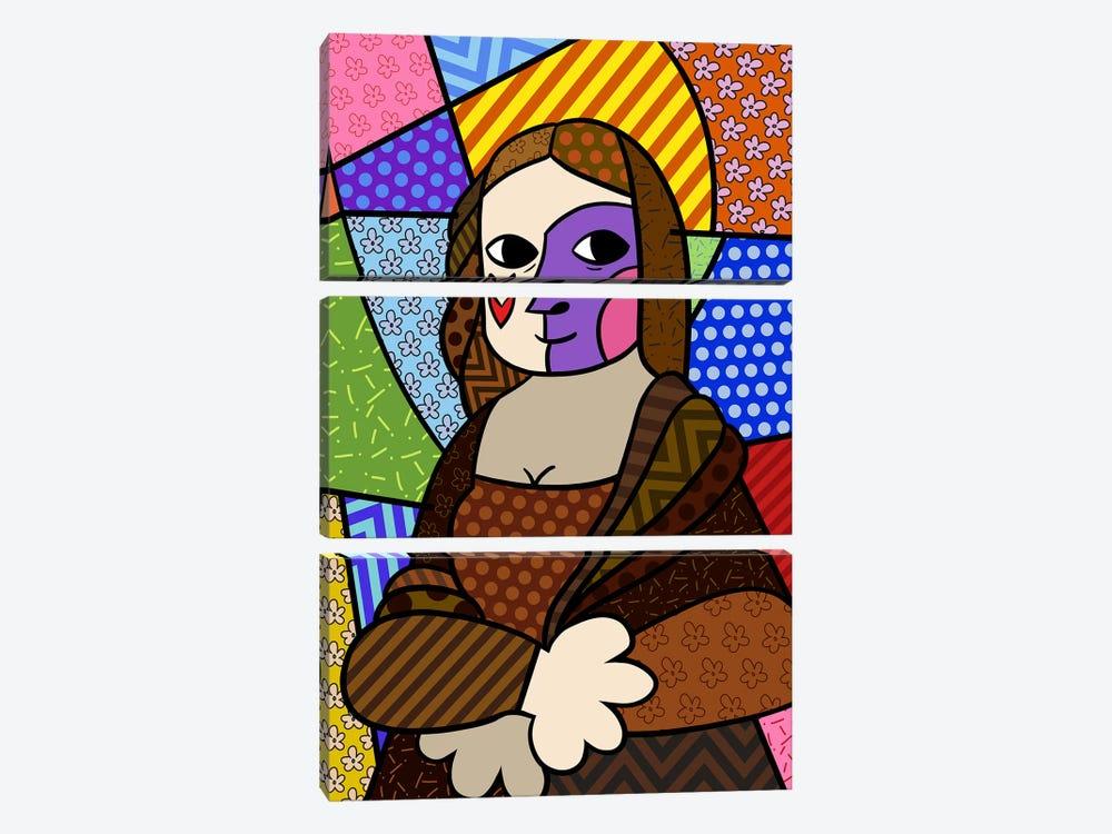 Mona Lisa 2 (After Leonardo Da Vinci) by 5by5collective 3-piece Canvas Artwork