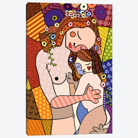 Mother and Child 2 (After Gustav Klimt) Canvas Print #ICA450} by 5by5collective Canvas Print