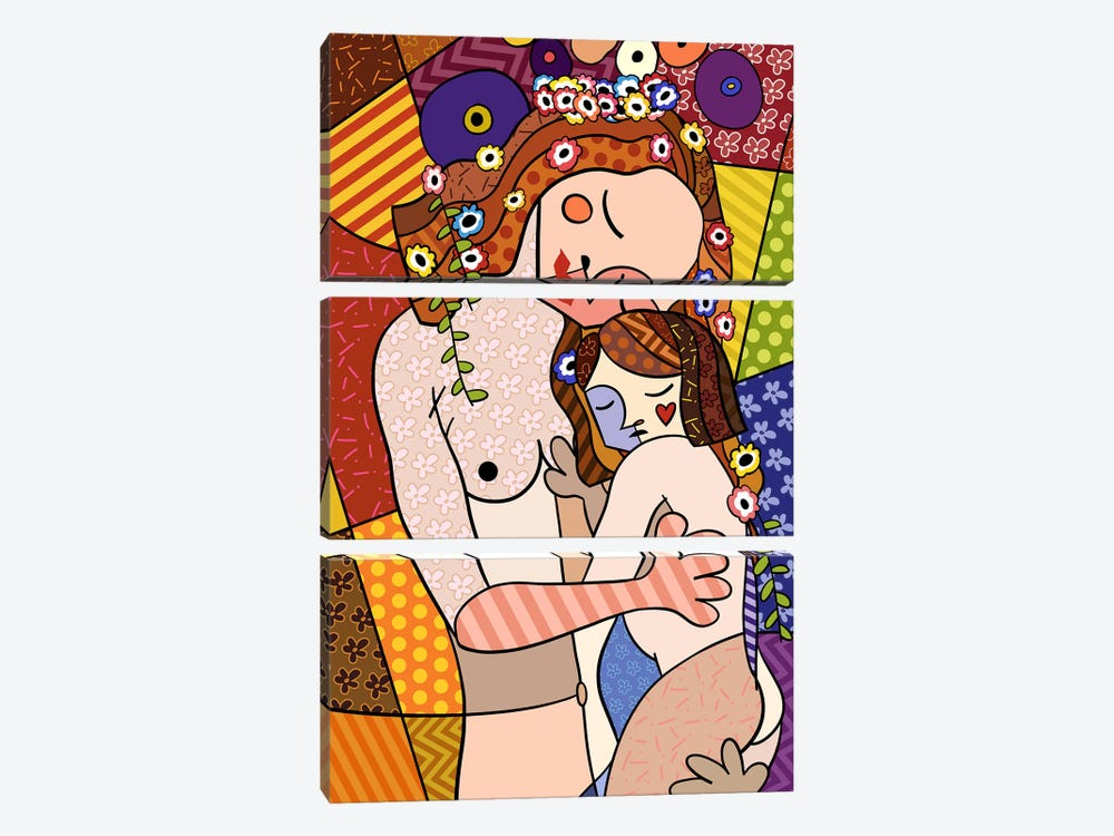 Mother and Child 2 (After Gustav Klimt) 3-piece Canvas Art