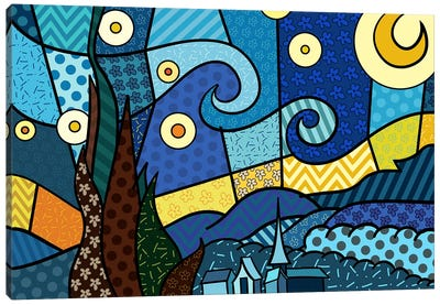Starry Night 2 (After Vincent Van Gogh) Canvas Art Print