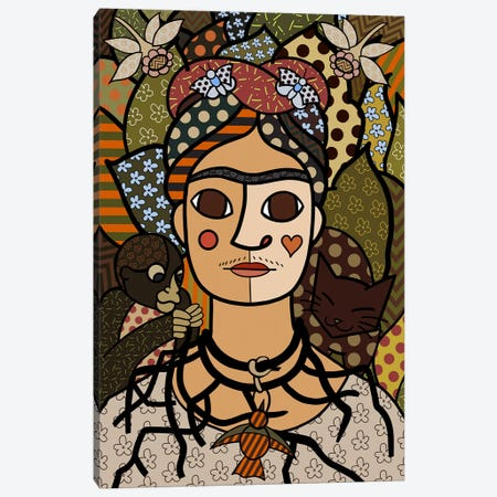 Self Portrait (After Frida Kahlo) Canvas Print #ICA452} by 5by5collective Art Print