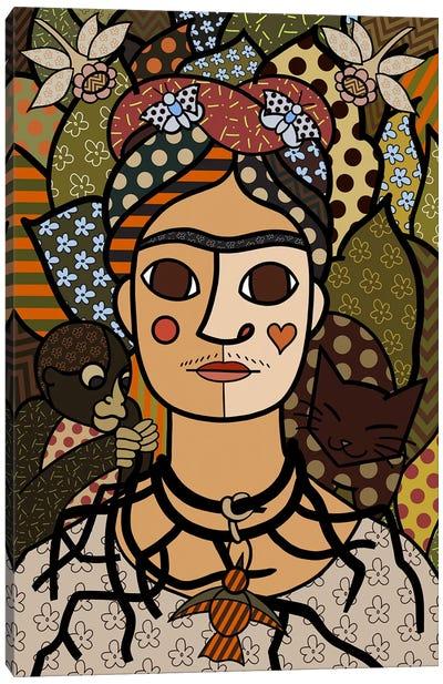 Self Portrait (After Frida Kahlo) Canvas Print #ICA452