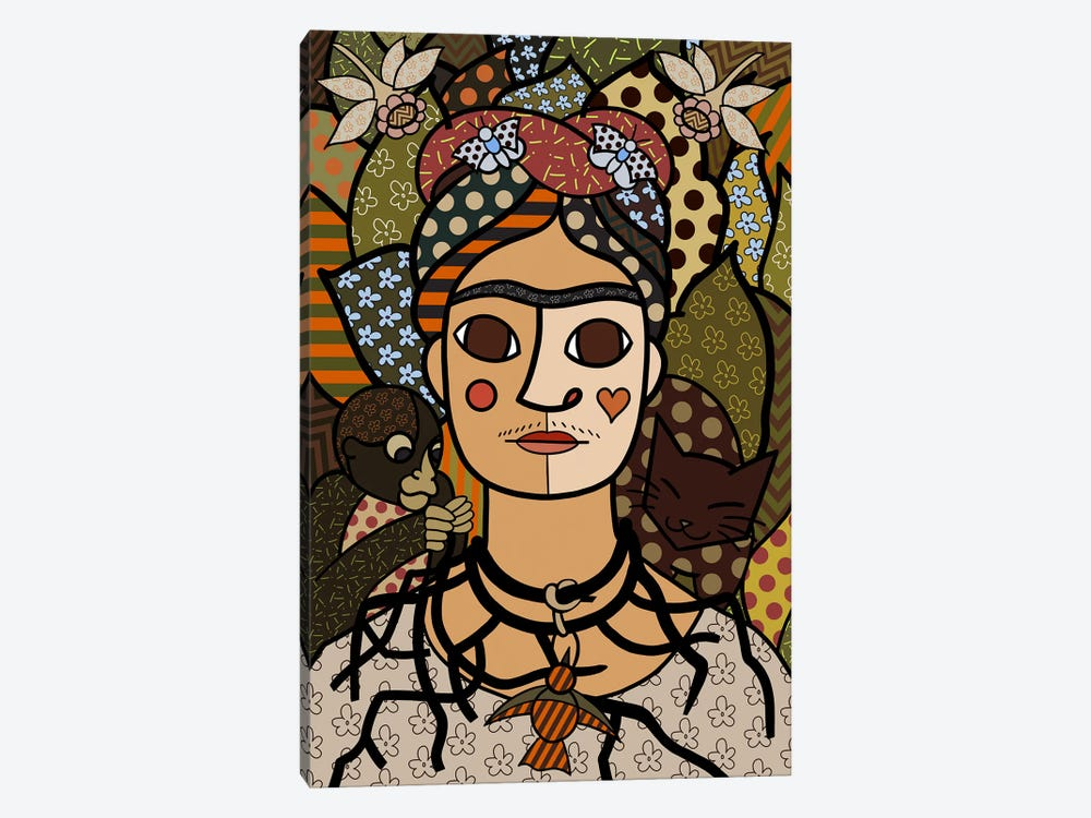 Self Portrait (After Frida Kahlo) by 5by5collective 1-piece Canvas Art