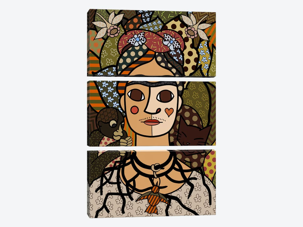 Self Portrait (After Frida Kahlo) by 5by5collective 3-piece Canvas Artwork