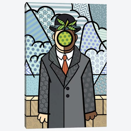 The Son of Man 2 (After Rene Magritte) Canvas Print #ICA453} by 5by5collective Canvas Art Print