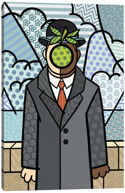 The Son of Man 2 (After Rene Magritte) Canvas Print #ICA453