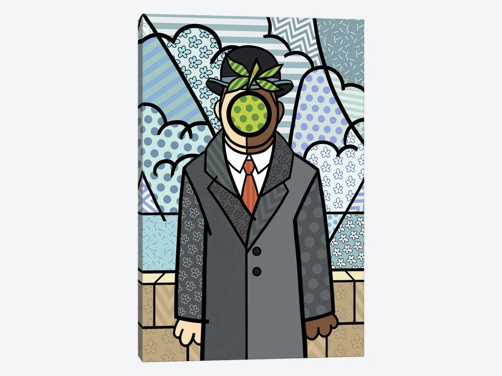 The Son of Man 2 (After Rene Magritte) by 5by5collective 1-piece Canvas Art Print