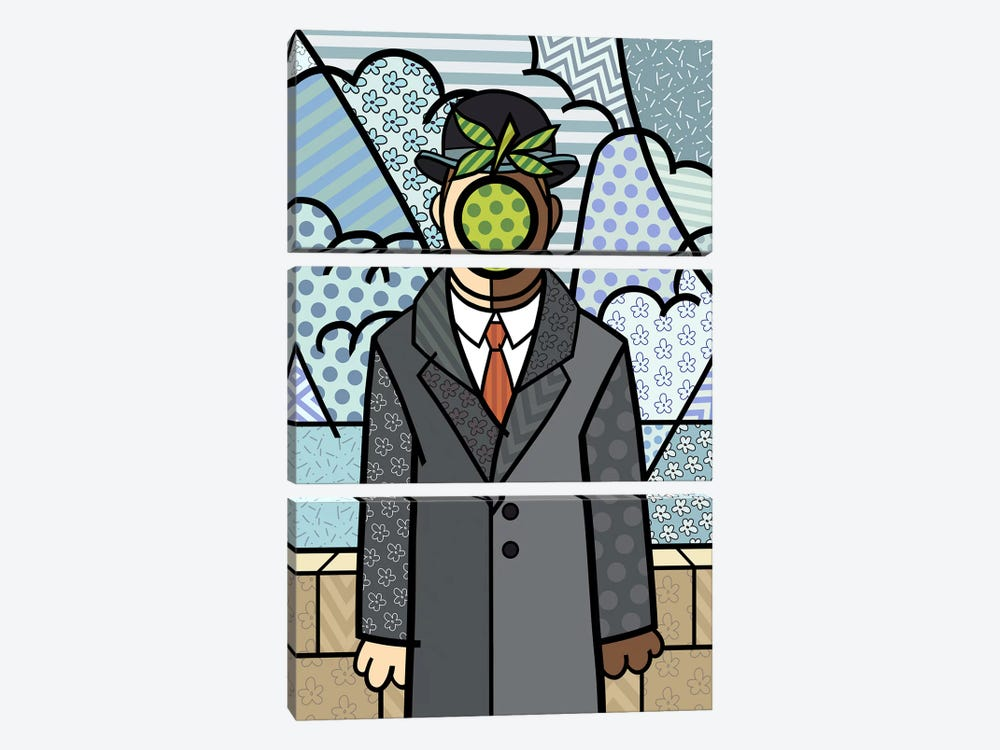 The Son of Man 2 (After Rene Magritte) by 5by5collective 3-piece Canvas Art Print