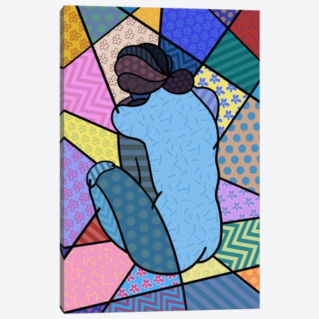 Blue Nude 2 (After Pablo Picasso) Canvas Print #ICA454} by 5by5collective Canvas Wall Art