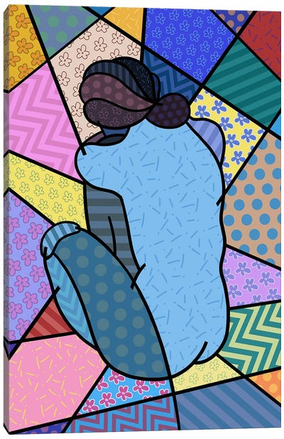 Blue Nude 2 (After Pablo Picasso) Canvas Art Print
