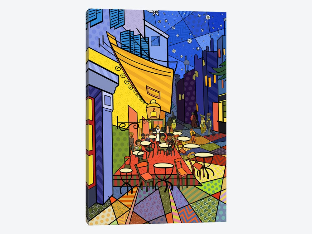 Cafe Terrace on the Place Du Forum 3 (After Vincent Van Gogh) by 5by5collective 1-piece Art Print