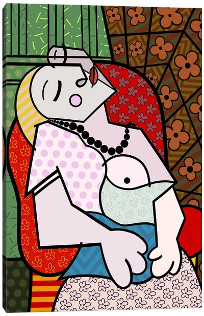 The Rest 3 (After Picasso) Canvas Art Print