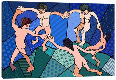 The Dance 2 (After Henri Matisse) Canvas Print #ICA457