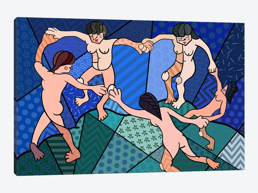 The Dance 2 (After Henri Matisse) by 5by5collective 1-piece Canvas Art Print