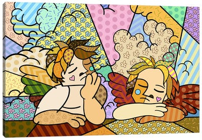 The Two Angels 2 (After Raphael) Canvas Print #ICA459