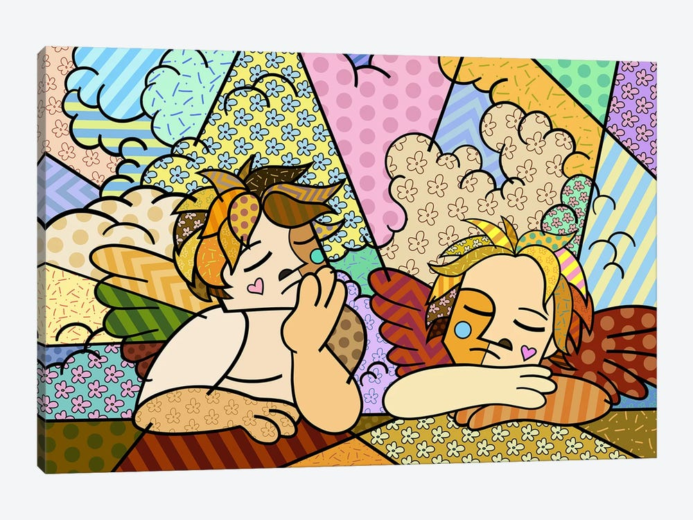 The Two Angels 2 (After Raphael) by 5by5collective 1-piece Art Print