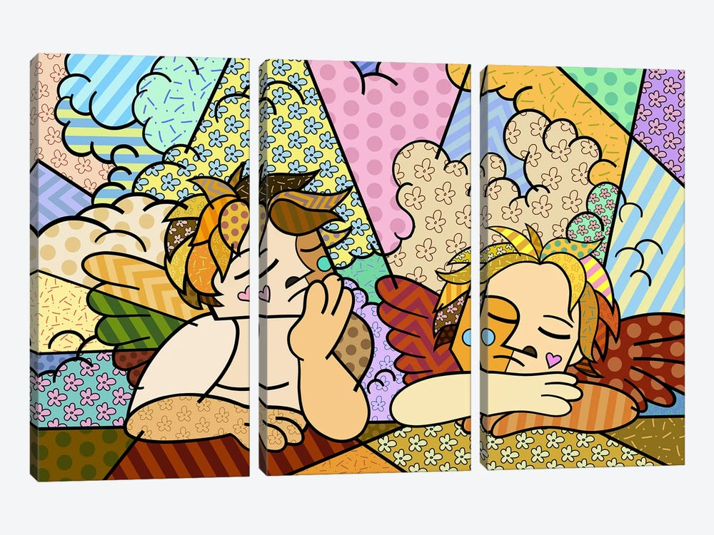 The Two Angels 2 (After Raphael) by 5by5collective 3-piece Canvas Art Print
