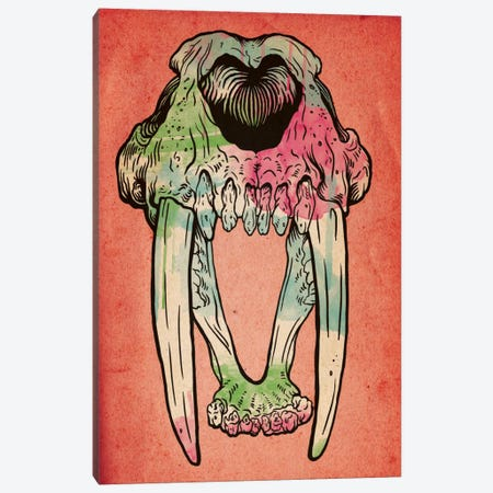 Prehistoric Watercolor Canvas Print #ICA45} by Unknown Artist Canvas Artwork