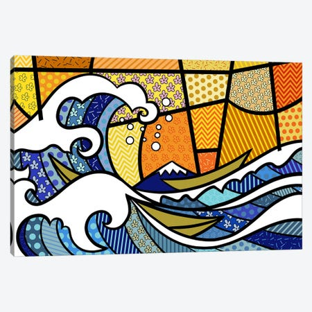 The Great Wave off Kanagawa 2 (After Hokusai) Canvas Print #ICA462} by 5by5collective Canvas Artwork