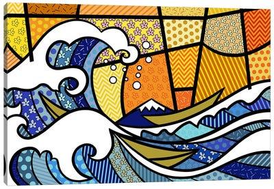 The Great Wave off Kanagawa 2 (After Hokusai) Canvas Art Print