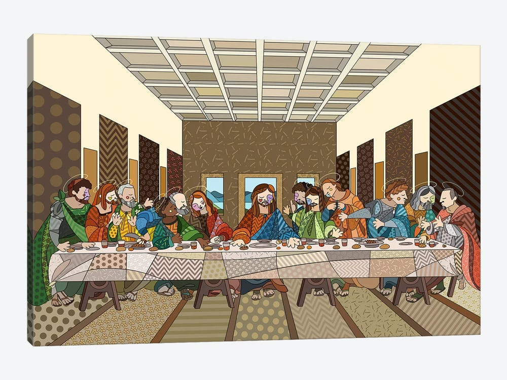 The Last Supper 2 (After Leonardo Da Vinci) by 5by5collective 1-piece Canvas Artwork