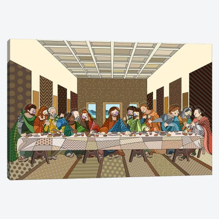 The Last Supper 2 (After Leonardo Da Vinci) Canvas Print #ICA463} by 5by5collective Canvas Artwork