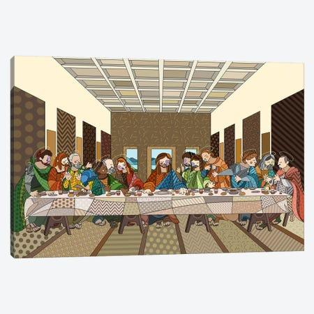 The Last Supper 2 (After Leonardo Da Vinci) 3-Piece Canvas #ICA463} by 5by5collective Canvas Artwork
