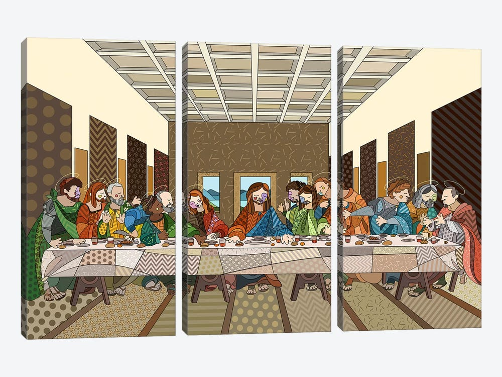 The Last Supper 2 (After Leonardo Da Vinci) by 5by5collective 3-piece Canvas Artwork