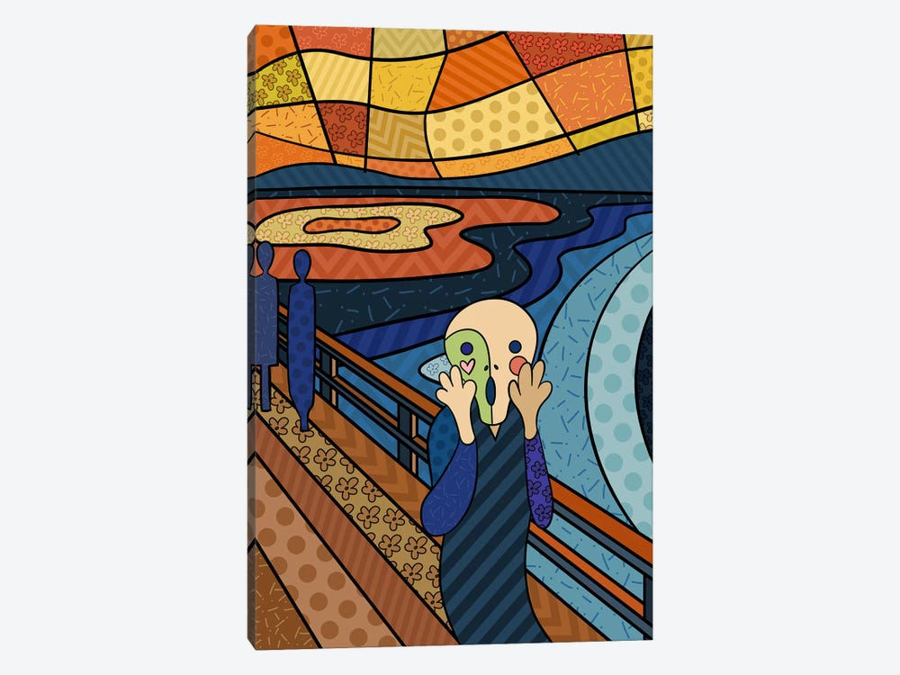 The Scream 3 (After Edvard Munch) by 5by5collective 1-piece Art Print
