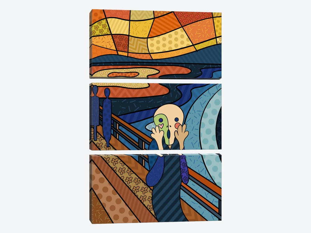 The Scream 3 (After Edvard Munch) by 5by5collective 3-piece Art Print