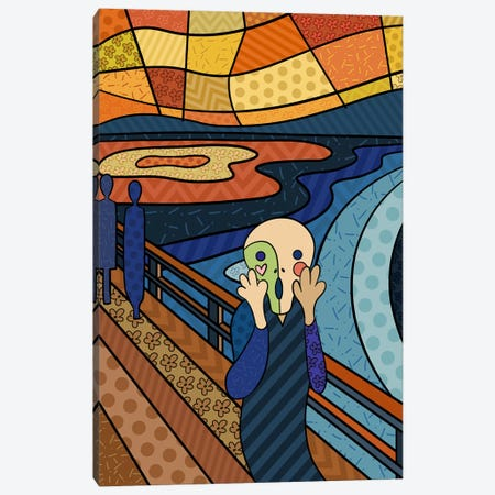 The Scream 3 (After Edvard Munch) Canvas Print #ICA464} by 5by5collective Canvas Art Print
