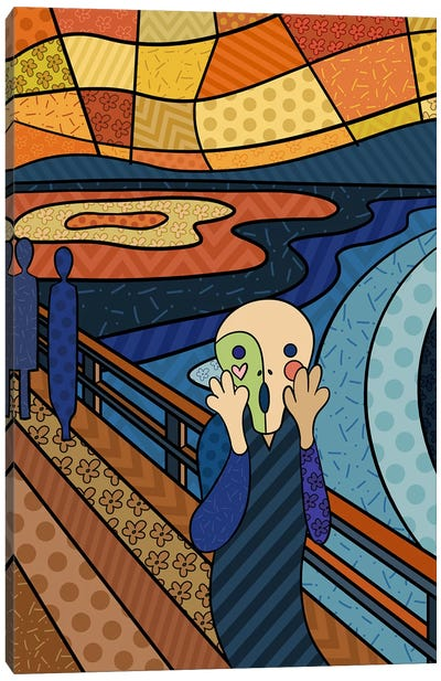 The Scream 3 (After Edvard Munch) Canvas Art Print