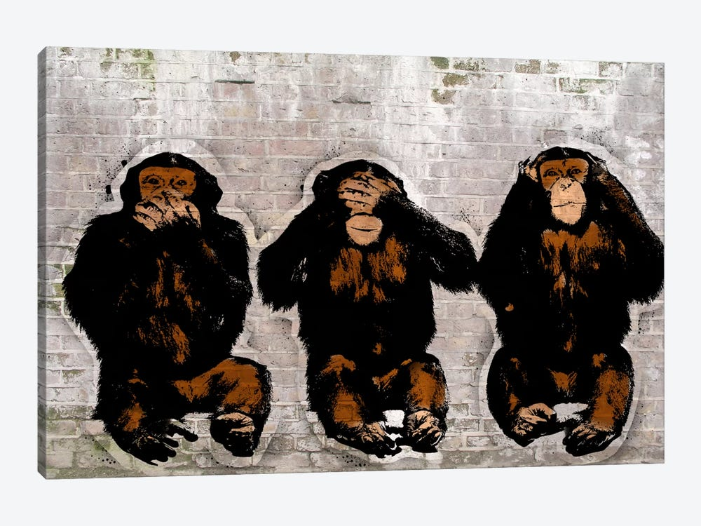 Monkey See, Monkey Do by 5by5collective 1-piece Canvas Art Print
