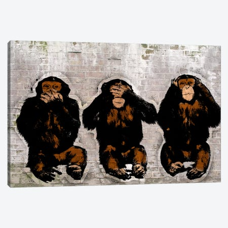 Monkey See, Monkey Do Canvas Print #ICA473} by 5by5collective Canvas Print